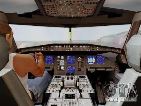 Airbus A340-600F DHL Buffalo für GTA San Andreas Unteransicht