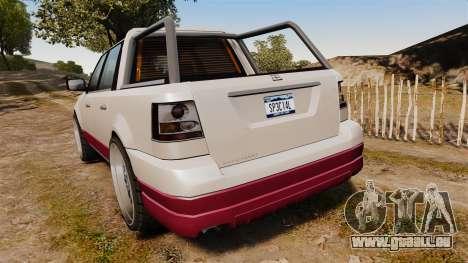 Dundreary Landstalker 4x4 pour GTA 4 Vue arrière de la gauche