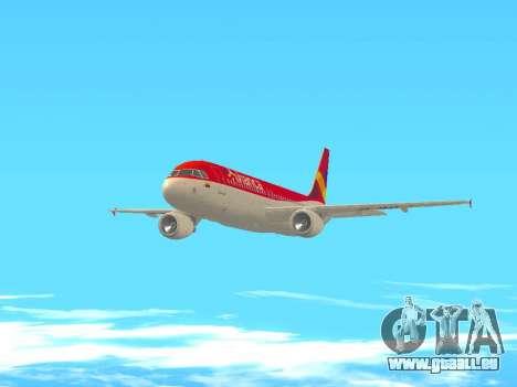 Airbus A320 Avianca Columbia für GTA San Andreas Innenansicht