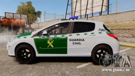 Peugeot 308 GTi 2011 Guardia Civil pour GTA 4 est une gauche