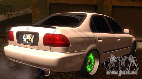 Honda Civic JDM pour GTA San Andreas laissé vue