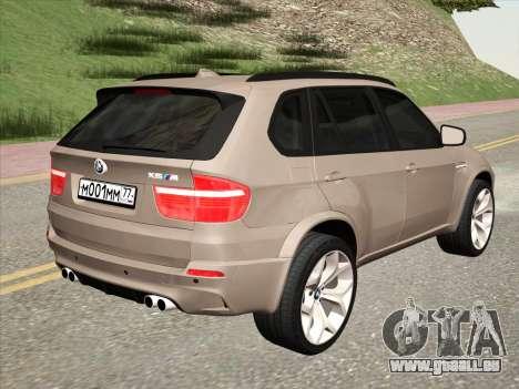 BMW X5M E70 2010 für GTA San Andreas rechten Ansicht