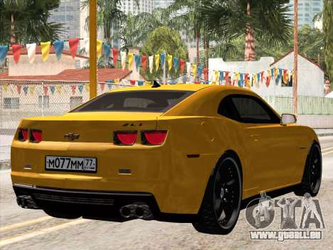 Chevrolet Camaro ZL1 2011 für GTA San Andreas zurück linke Ansicht