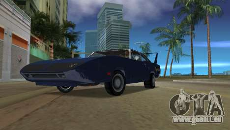 Plymouth Superbird pour GTA Vice City sur la vue arrière gauche