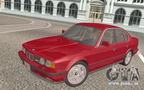BMW M5 E34 1991 NA-spec für GTA San Andreas Innen