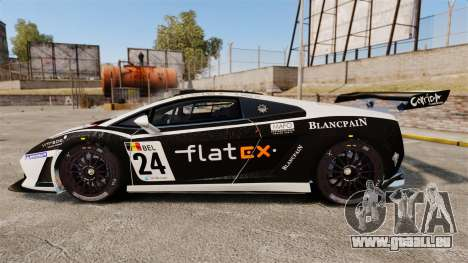Lamborghini Gallardo LP560-4 GT3 2010 Flatex für GTA 4 linke Ansicht