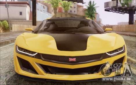 GTA V Dinka Jester IVF pour GTA San Andreas vue arrière