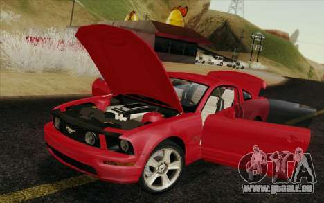 Ford Mustang GT 2005 pour GTA San Andreas salon