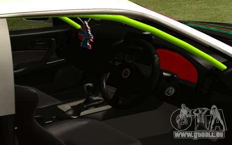 Nissan Skyline R-34 RDS pour GTA San Andreas sur la vue arrière gauche