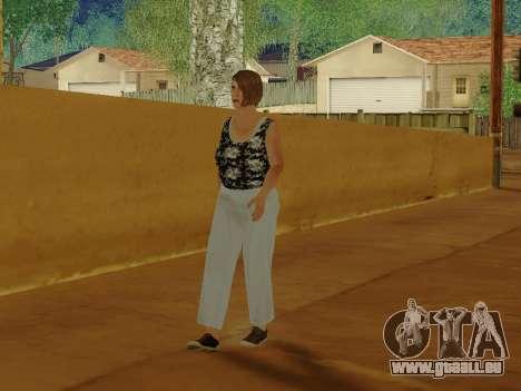 Une femme âgée v.2 pour GTA San Andreas sixième écran