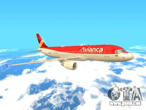 Airbus A320 Avianca Columbia für GTA San Andreas