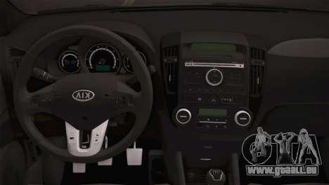 Kia Ceed 2011 pour GTA San Andreas vue arrière