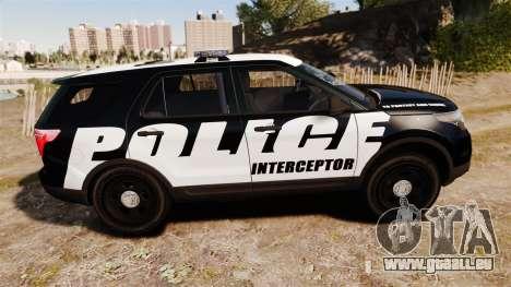Ford Explorer 2013 Police Interceptor [ELS] pour GTA 4 est une gauche