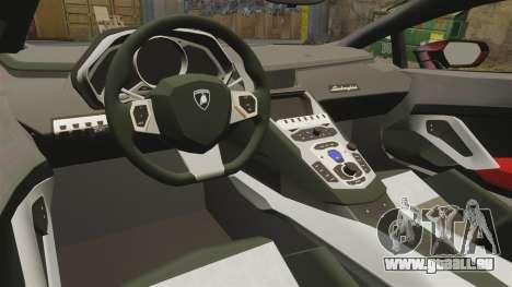 Lamborghini Huracan LP610-4 2014 Red Bull pour GTA 4 est une vue de l'intérieur