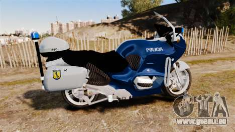 BMW R1150RT Portuguese Police [ELS] pour GTA 4 est une gauche