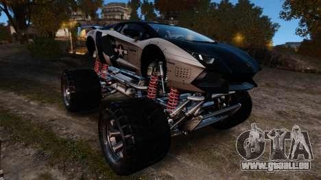 Lamborghini Aventador LP700-4 [Monster truck] pour GTA 4 est une vue de l'intérieur