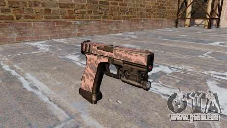 Pistolet Glock 20 Rouge Tigre pour GTA 4