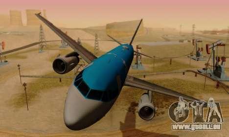Airbus A319 KLM für GTA San Andreas linke Ansicht