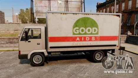 Maultier mit einer neuen Werbung für GTA 4 Innenansicht