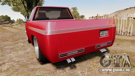 Rancher Lowride pour GTA 4 Vue arrière de la gauche