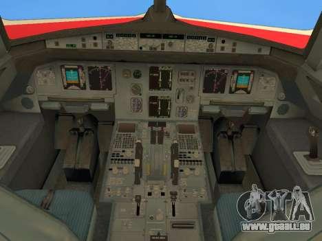 Airbus A320 Avianca Columbia für GTA San Andreas obere Ansicht