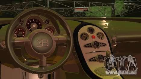 Bugatti Veyron 2009 für GTA San Andreas rechten Ansicht