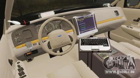 Ford Crown Victoria LCPD [ELS] für GTA 4 Rückansicht
