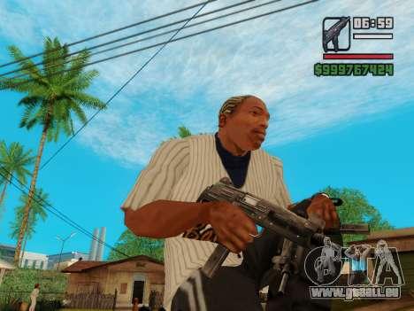 Die Maschinenpistole UZI für GTA San Andreas
