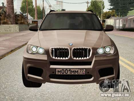 BMW X5M E70 2010 für GTA San Andreas zurück linke Ansicht