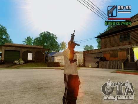 Die Maschinenpistole UZI für GTA San Andreas siebten Screenshot