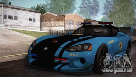 Dodge Viper SRT 10 ACR Police Car für GTA San Andreas