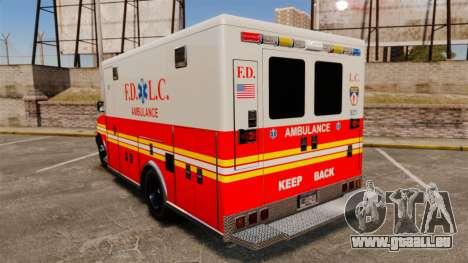 Brute Speedo FDLC Ambulance [ELS] für GTA 4 hinten links Ansicht