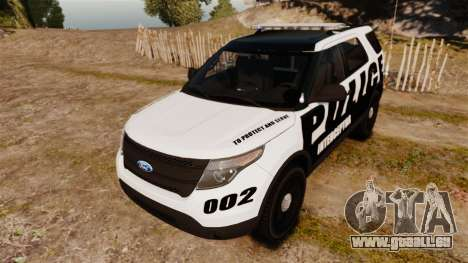 Ford Explorer 2013 Police Interceptor [ELS] pour GTA 4 Vue arrière