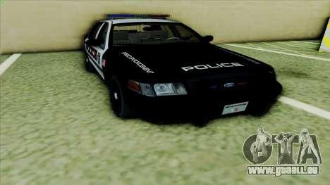 Ford Crown Victoria Police Interceptor pour GTA San Andreas laissé vue