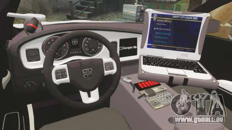 Dodge Charger 2013 LCPD [ELS] pour GTA 4 Vue arrière
