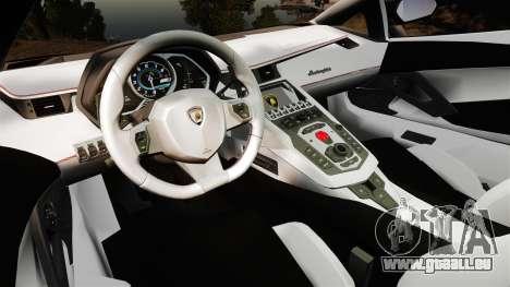 Lamborghini Aventador LP700-4 [Monster truck] pour GTA 4 Vue arrière