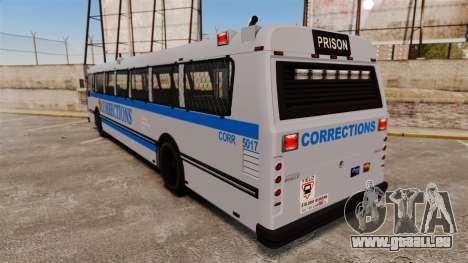 Brute Bus Corrections [ELS] pour GTA 4 Vue arrière de la gauche