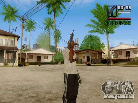 Die Maschinenpistole UZI für GTA San Andreas achten Screenshot