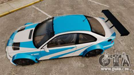 BMW M3 GTR 2012 Most Wanted v1.1 für GTA 4 rechte Ansicht