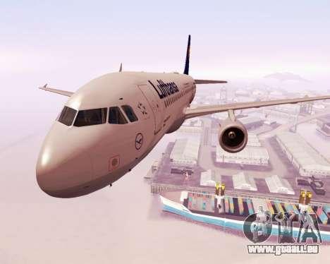 Airbus A320-200 Lufthansa für GTA San Andreas Seitenansicht