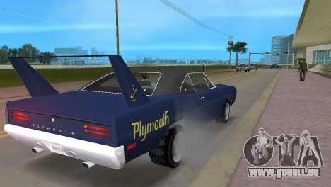 Plymouth Superbird pour une vue GTA Vice City de la droite