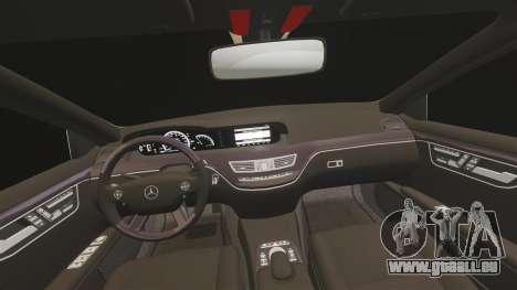 Mercedes-Benz S65 (W221) AMG für GTA 4 obere Ansicht