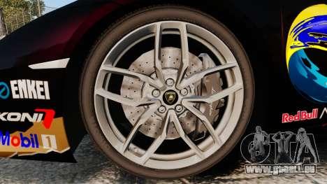 Lamborghini Huracan LP610-4 2014 Red Bull pour GTA 4 Vue arrière