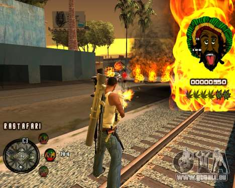 C-HUD Rastafari pour GTA San Andreas deuxième écran