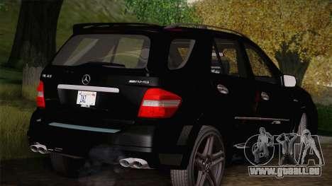 Mercedes-Benz ML63 für GTA San Andreas zurück linke Ansicht