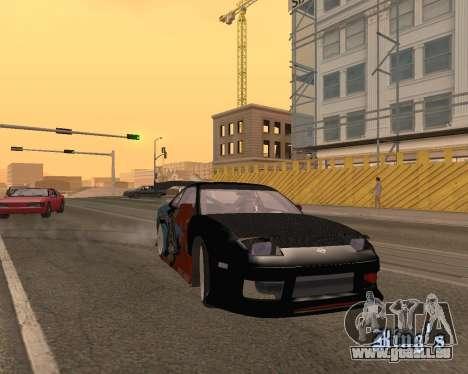 Nissan 150sx Evil Empire für GTA San Andreas Rückansicht