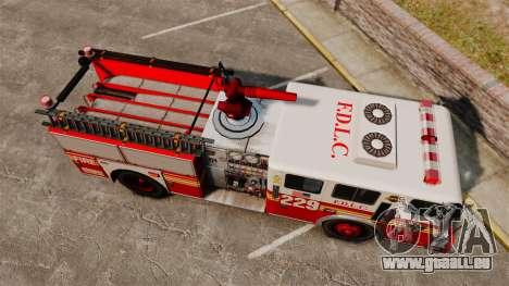 Fire Truck v1.4A FDLC [ELS] für GTA 4 rechte Ansicht
