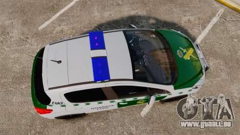 Peugeot 308 GTi 2011 Guardia Civil für GTA 4 rechte Ansicht