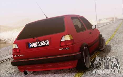 Volkswagen Golf Mk 2 pour GTA San Andreas laissé vue