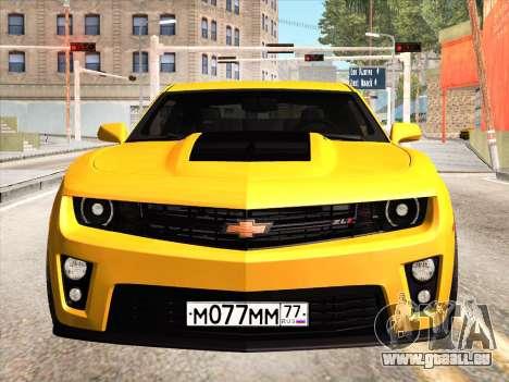 Chevrolet Camaro ZL1 2011 für GTA San Andreas Innenansicht